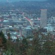 Stock Video: Portland Oregon Cityscape in Colorful Autumn Timelapse
