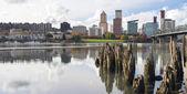 Portland Oregon Waterfront in Autumn Panorama — Stock Photo