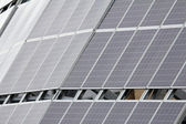 Solar Panels on Building Rooftop — Stock Photo