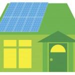 Solar Panels on Green House Illustration — Stock Vector #14610793