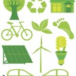 Go Green Eco Symbols Ilustration — Stock Vector