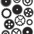 Stock Vector: Mechanical Gears Illustration
