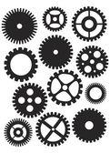 Mechanical Gears Illustration — Stock Vector