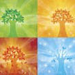 Royalty-Free Stock Vector Image: Four Seasons Tree Background Illustration