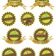 Organic Farm Fresh Labels Illustration — Stock Vector