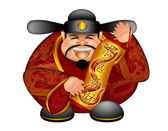 2013 Chinese Money God With Snake Scroll Wishing Good Fortune — Stock Photo