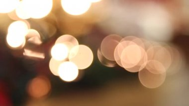 Holiday Christmas Bokeh Twinkling Out of Focus Festive Background — Stock Video