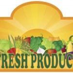 FreshProduceSignSunRaysV — Stock Vector #15742591