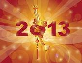 Chinesisches neujahr 2013 schlange auf laterne — Stockvektor