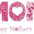Royalty-Free Stock Vector Image: Happy Mothers Day Mom Alphabet Flowers