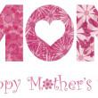 Happy Mothers Day Mom Alphabet Flowers — Stock Vector