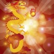Stock Vector: Chinese New Year Dragon on Bokeh Background