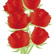 Royalty-Free Stock Vector Image: Red Roses for Valentines Day Illustration
