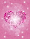 Hearts Polka Dot Bokeh Background — Stock Vector