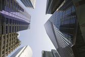 Office Buildings Reflection in Singapore Financial District — Stock Photo