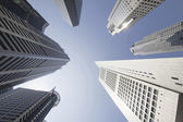 Office Buildings in Singapore Financial District — Stock Photo