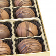 Box of Chocolate Truffles — Stock Photo
