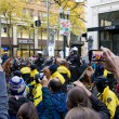 Spectators with Camera Phones Recording Occupy Portland Protest - Stock Photo