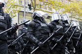 Portland Police in Riot Gear N17 Protest — Stockfoto