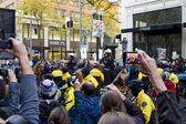 Spectators with Camera Phones Recording Occupy Portland Protest — Stock Photo