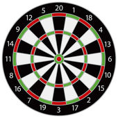 Dartboard Illustration — Stock Vector