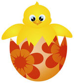 Easter Chick Hatching Illustration — Stock Vector
