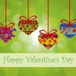 Royalty-Free Stock Vector Image: Valentines Day Hanging Hearts Ornaments