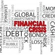 Financial Crisis Word Cloud Illustration - Stock Vector