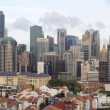 Singapore Skyline Along Chinatown Area — Stock Photo