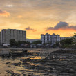 Sunset Over Georgetown Penang Malaysia — Stock Photo #22851058