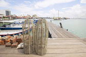 Fish Trap on Jetty in Penang — Stock Photo
