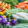 Vegetables Stand in Wet Market — Stock Photo