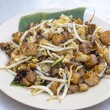 Penang Fried Rice Cake with Bean Sprouts - Stock Photo