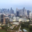 Stock Photo: Singapore Financial District Skyline at Dusk