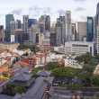 Stock Photo: Singapore Central Business District Over Chinatown Area