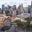 Singapore Central Business District Over Chinatown Area — Stock Photo