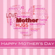 Mothers Day Word Cloud Greeting Card - 