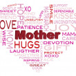 Happy Mothers Day Word Cloud Illustration — Stock Vector