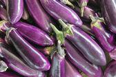 Aubergine vegetabiliska bakgrund — Stockfoto