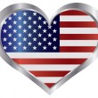 Royalty-Free Stock Vector Image: 4th of July USA Flag Heart