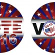 Royalty-Free Stock Vector Image: Vote 2016 Presidential Election Buttons Illustration