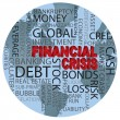 World Financial Crisis Word Cloud Illustration — Imagens vectoriais em stock