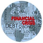Světová finanční krize slovo mrak ilustrace — Stock vektor