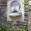 Tuscan Style Wall Water Fountain in Courtyard — Stock Photo