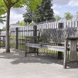 Wooden Park Benches — Stock Photo