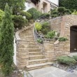 Stone Veneer Facade on Home Exterior — Foto de Stock