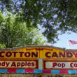 Cotton Candy Stand Signage in Carnival Festival one Sunny Blue Sky Day 1920x1080 — 图库视频影像
