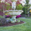 Stock Photo: Renaissance Water Fountain in Front Lawn