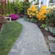 Stock Photo: Garden Brick Paver Path
