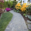 Garden Brick Paver Path — Stock Photo #24992573